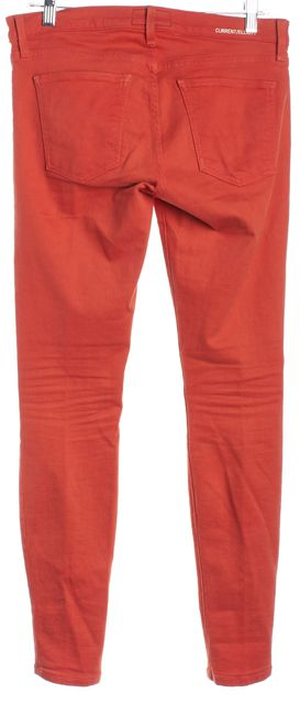 CURRENT ELLIOTT Poppy Orange The Ankle Skinny Classic Rise Jeans