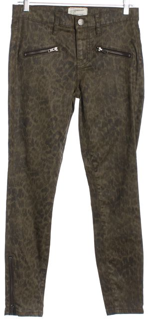 CURRENT ELLIOTT Green Abstract Casual Pants