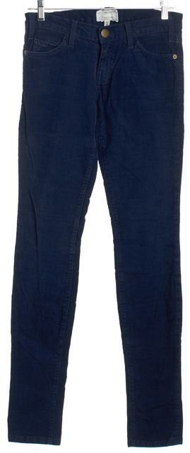 CURRENT ELLIOTT Navy Blue The Skinny Officer Blue Skinny Jeans