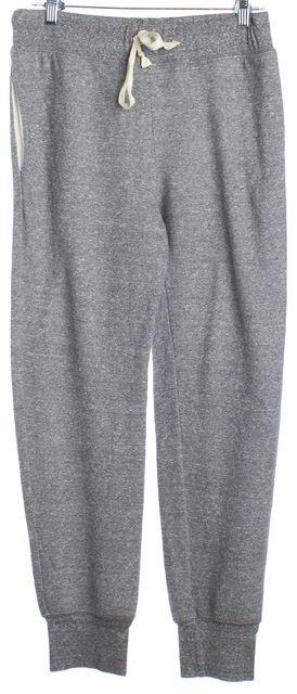 CURRENT ELLIOTT Gray Tie Waist Jogger Pants