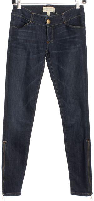 CURRENT ELLIOTT Blue Bird Ankle Zipper Skinny Jeans