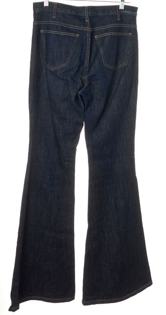 CURRENT ELLIOTT Blue The High Rise Bell Flare Classic Rise Jeans