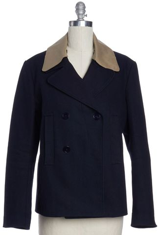 CARVEN Men's Navy Blue Double Breasted Jacket