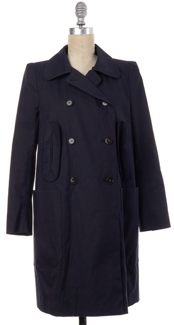 CARVEN Navy Blue Double Breasted Trench Coat