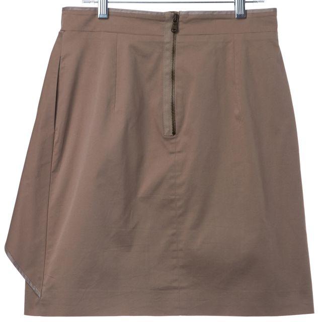 CARVEN Khaki Beige Asymmetric Peplum Skirt