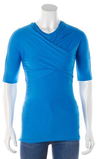 CARVEN Blue Stretch Draped T-Shirt