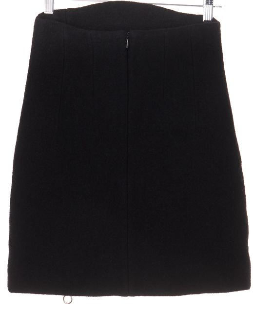 CARVEN Black A-Line Above Knee Skirt