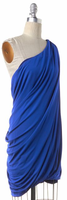 CUT 25 Blue Cobalt One Shoulder Dress