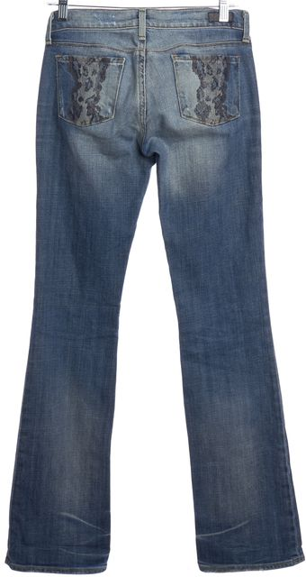 CITIZENS OF HUMANITY Blue Distressed Low Waist Bootcut Jeans