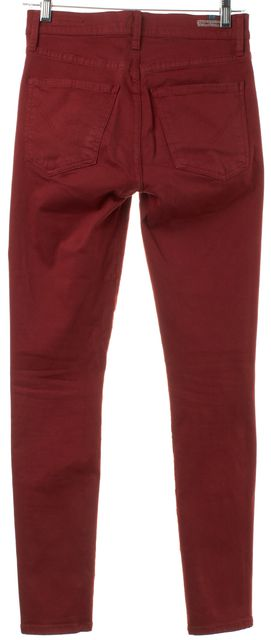 CITIZENS OF HUMANITY Red Medium Rise Cropped Skinny Jeans