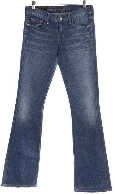 CITIZENS OF HUMANITY Blue Wedgewood Dita Petite Low Rise Bootcut Jeans