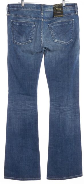 CITIZENS OF HUMANITY Blue Dita Petite Low Rise Boot Cut Jeans