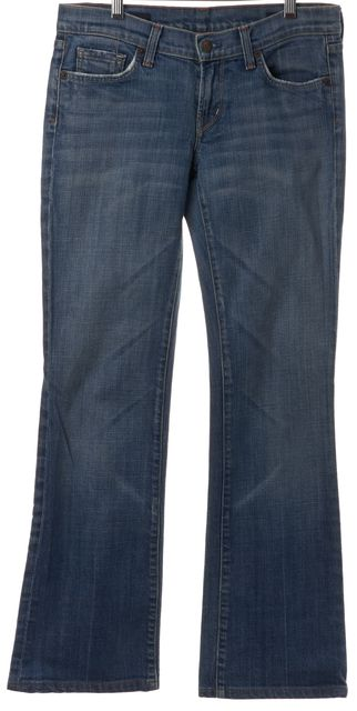 CITIZENS OF HUMANITY #064-011 Blue Whisker Wash Low Waist Boot Cut Jeans