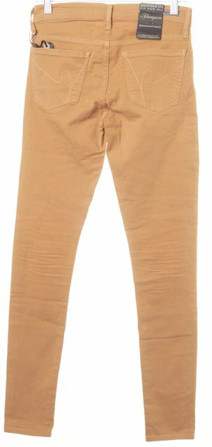 CITIZENS OF HUMANITY Beige The Thompson Medium Rise Skinny Jeans