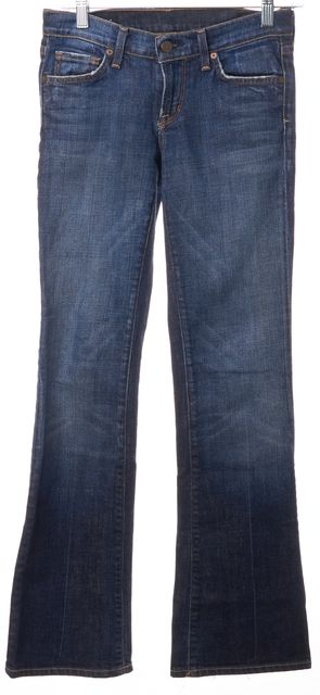 CITIZENS OF HUMANITY Blue Medium Wash Low Rise Petite Bootcut Dita Jeans