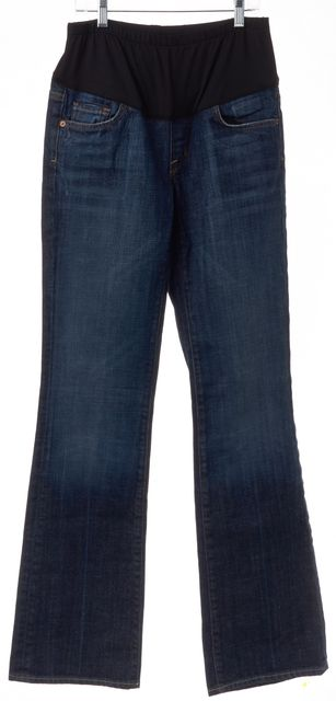 CITIZENS OF HUMANITY Maternity Blue Belly Panel Flare Jeans