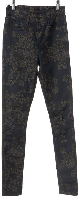 CITIZENS OF HUMANITY Blue Floral Rocket High Rise Skinny Jeans