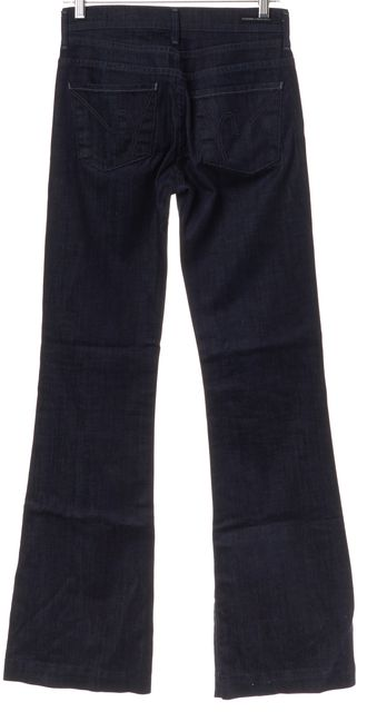 CITIZENS OF HUMANITY Dark Wash Mid Rise Hutton Flare Jeans