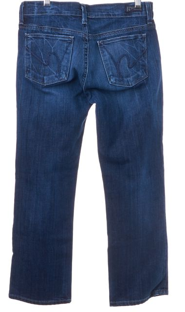CITIZENS OF HUMANITY Blue Crop Capri Mid-Rise Medium Wash Jeans