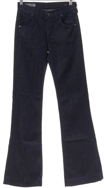 CITIZENS OF HUMANITY Dark Blue Hutton High Rise Wide Leg Jeans