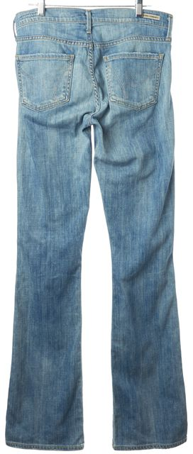 CITIZENS OF HUMANITY Blue Amber Medium Rise Boot Cut Jeans