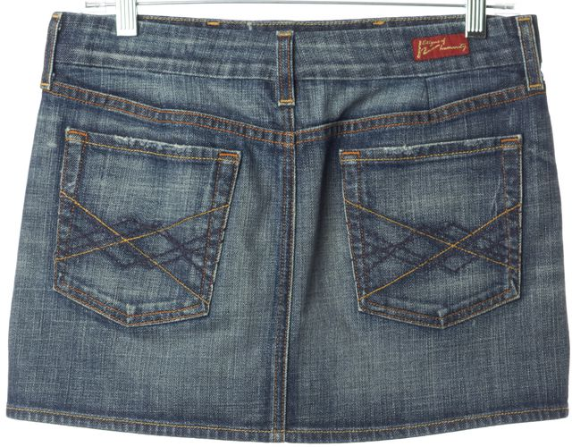 CITIZENS OF HUMANITY Blue Denim #308 Bridgette Stretch Mini Skirt
