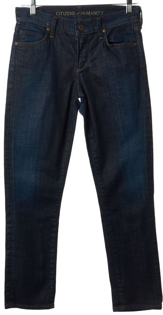 CITIZENS OF HUMANITY Blue Casual Slim Fit Skinny Mid-Rise Stretch Jeans