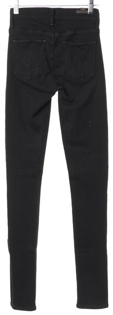 CITIZENS OF HUMANITY Black Stretch Avedon Slick Skinny Leg Leggings Jeans