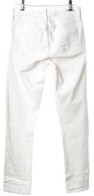 CITIZENS OF HUMANITY White Straight Leg Mid-Rise Jeans