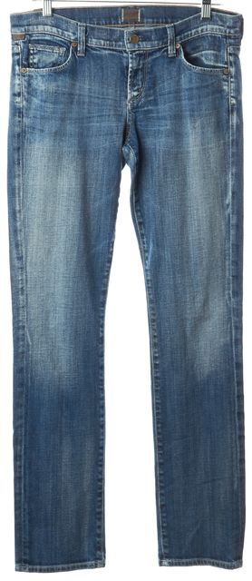CITIZENS OF HUMANITY Blue Ava Straight Leg Slim Fit Classic Low-Rise Jeans