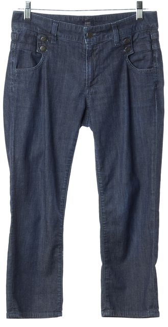 CITIZENS OF HUMANITY Dark Wash High Rise Cropped Jeans