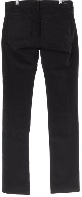 CITIZENS OF HUMANITY Black Elson Medium Rise Straight Leg Jeans