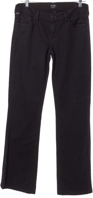 CITIZENS OF HUMANITY Black Kelly Casual Low-Rise Classic Boot Cut Jeans