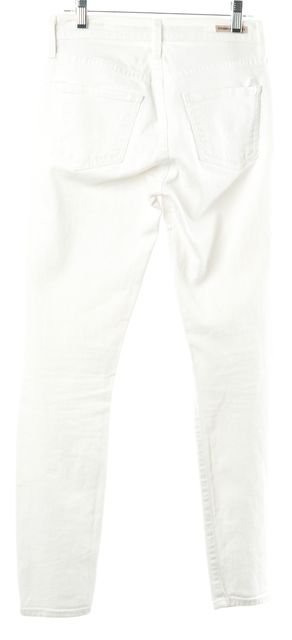 CITIZENS OF HUMANITY White Thompson Medium Rise Skinny Jeans