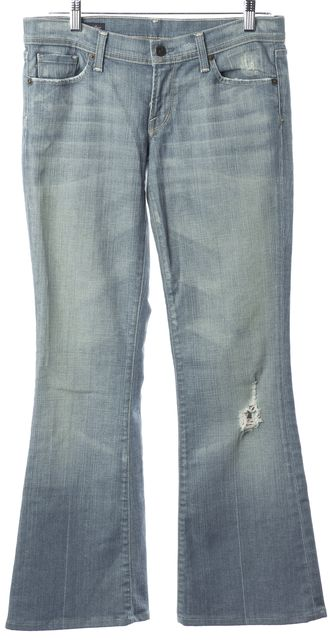 CITIZENS OF HUMANITY Blue Light Wash Flare Jeans