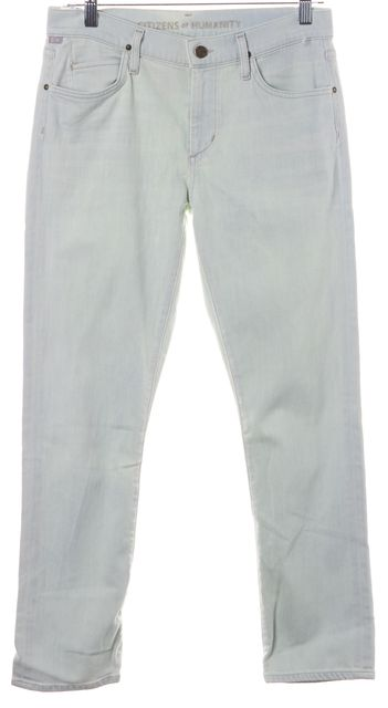 CITIZENS OF HUMANITY Blue Light Wash Mid-Rise Skinny Jeans