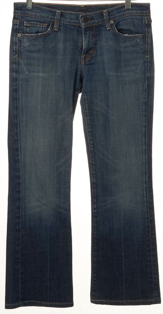 CITIZENS OF HUMANITY Blue Kelly Low Waist Medium Wash Boot Cut Jeans