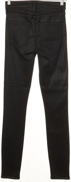 CITIZENS OF HUMANITY Black Coated Rocket Slick High Rise Skinny Jeans