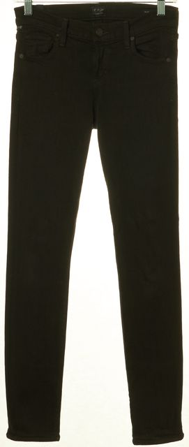 CITIZENS OF HUMANITY Dark Green Avedon Slick Skinny Jeans