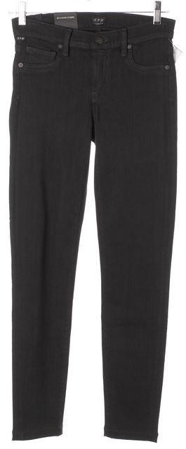 CITIZENS OF HUMANITY Slate Black Avedon Slick Skinny Jeans