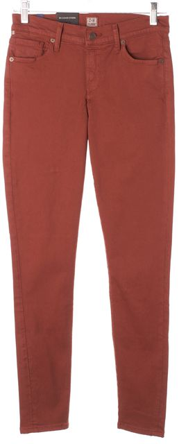 CITIZENS OF HUMANITY Red Thompson Medium Rise Cropped Skinny Jeans