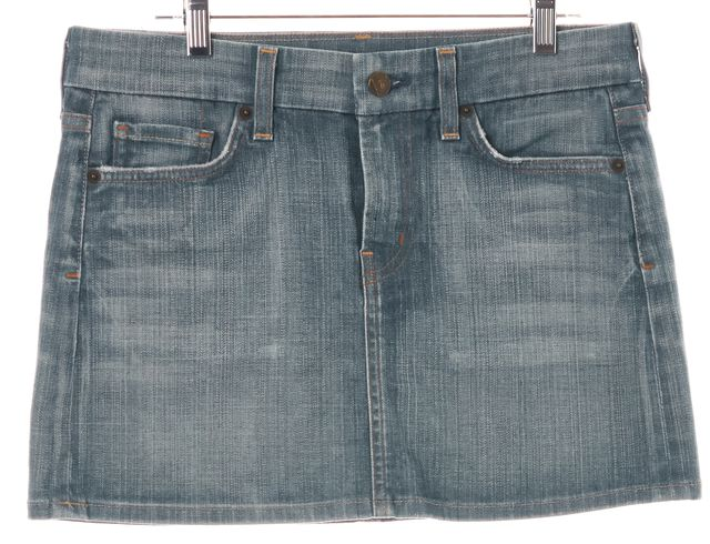CITIZENS OF HUMANITY Blue Denim Bridgette #308 Stretch Mini Skirt
