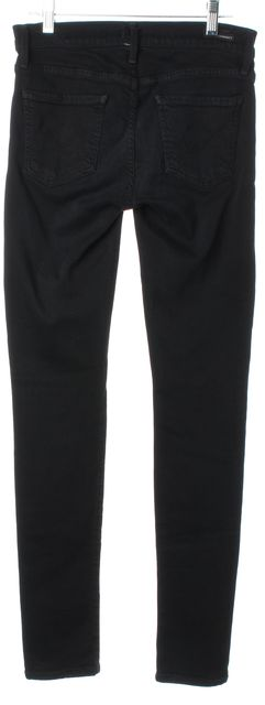 CITIZENS OF HUMANITY Black Avedon Slick Mid-Rise Skinny Jeans