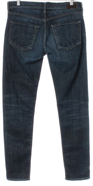 CITIZENS OF HUMANITY Blue Dark Wash Mid-Rise Straight Leg Jeans
