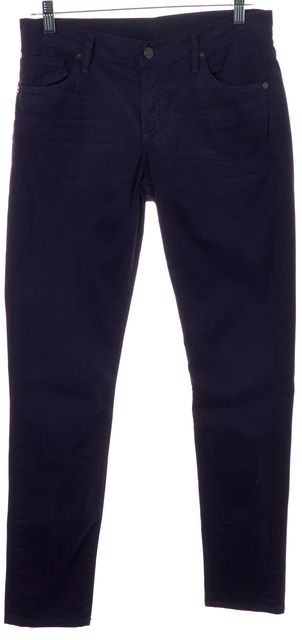 CITIZENS OF HUMANITY Purple Medium Rise Cropped Skinny Jeans
