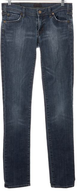 CITIZENS OF HUMANITY Blue Avedon Stretch Low Waist Stove Pipe Skinny Jeans