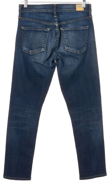 CITIZENS OF HUMANITY Blue Emerson Slim Fit Boyfriend Mid-Rise Jeans