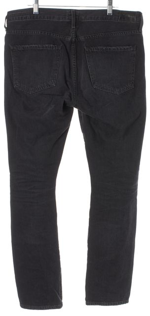 CITIZENS OF HUMANITY Black Agnes Mid Rise Straight Fit Jeans