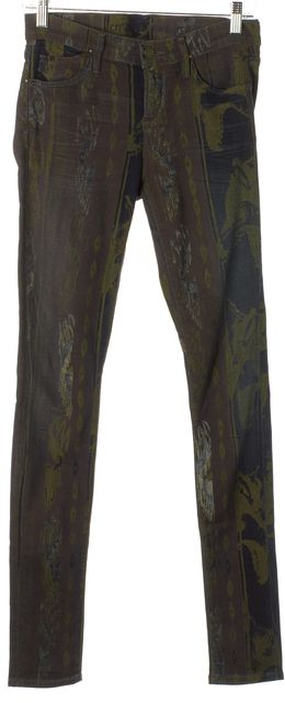 CITIZENS OF HUMANITY Purple Abstract Avedon Low Rise Skinny Jeans