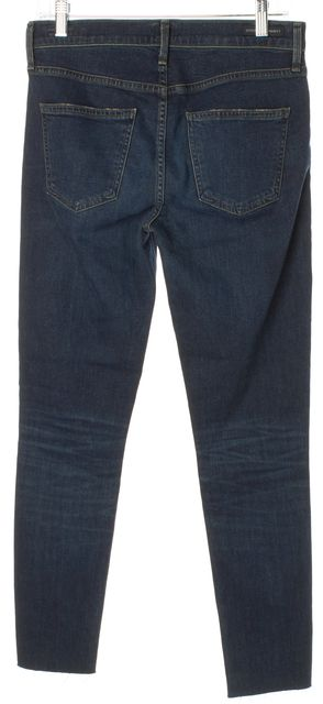 CITIZENS OF HUMANITY Blue Raw Ankle Hem Rocket High Rise Skinny Jeans